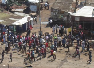 The situation in the Kibera slum of Nairobi